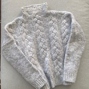 Madewell grey cable knit sweater
